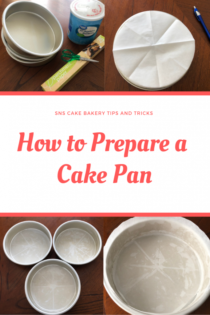 how to prepare a cake pan