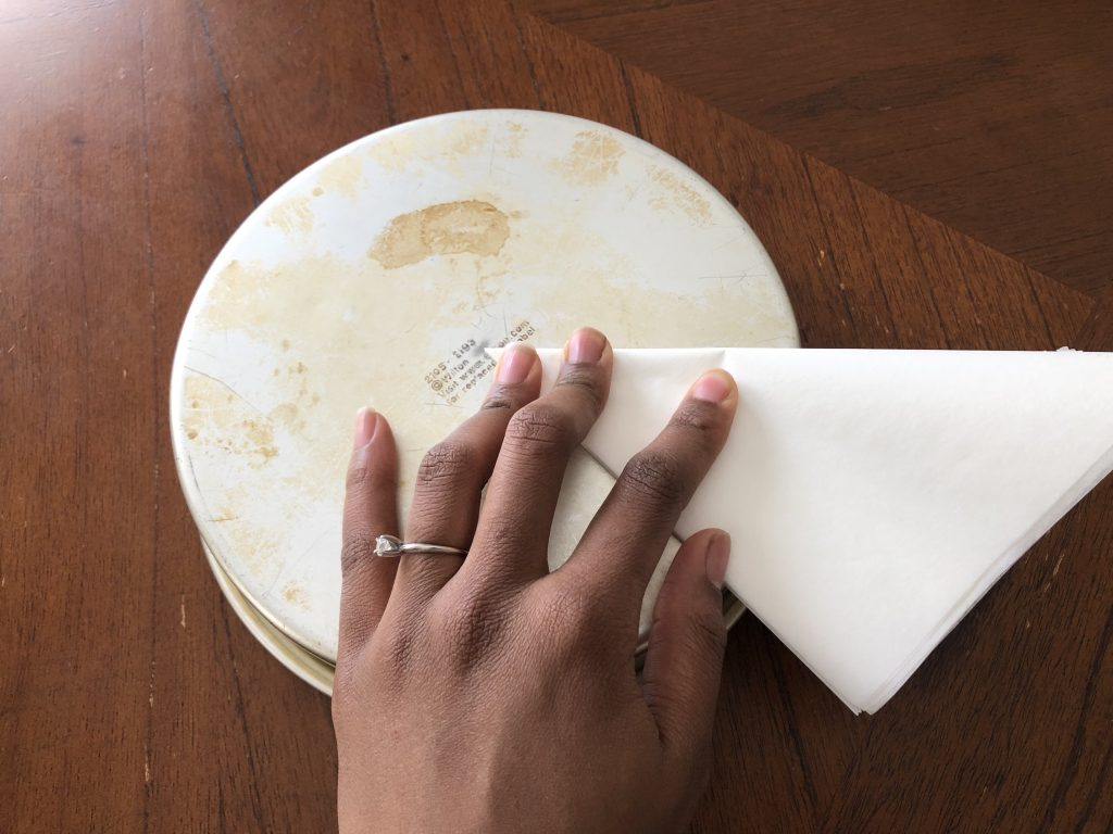 folding parchment paper in half