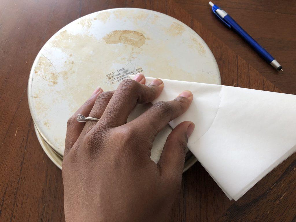 measuring parchment paper