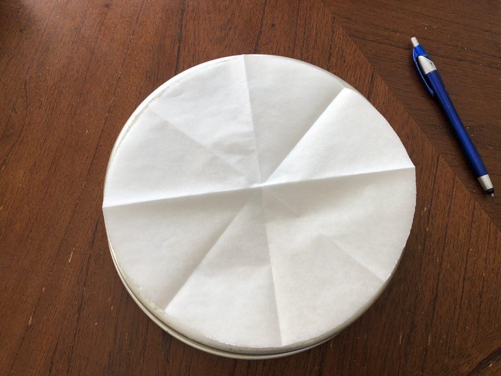 cutting parchment paper