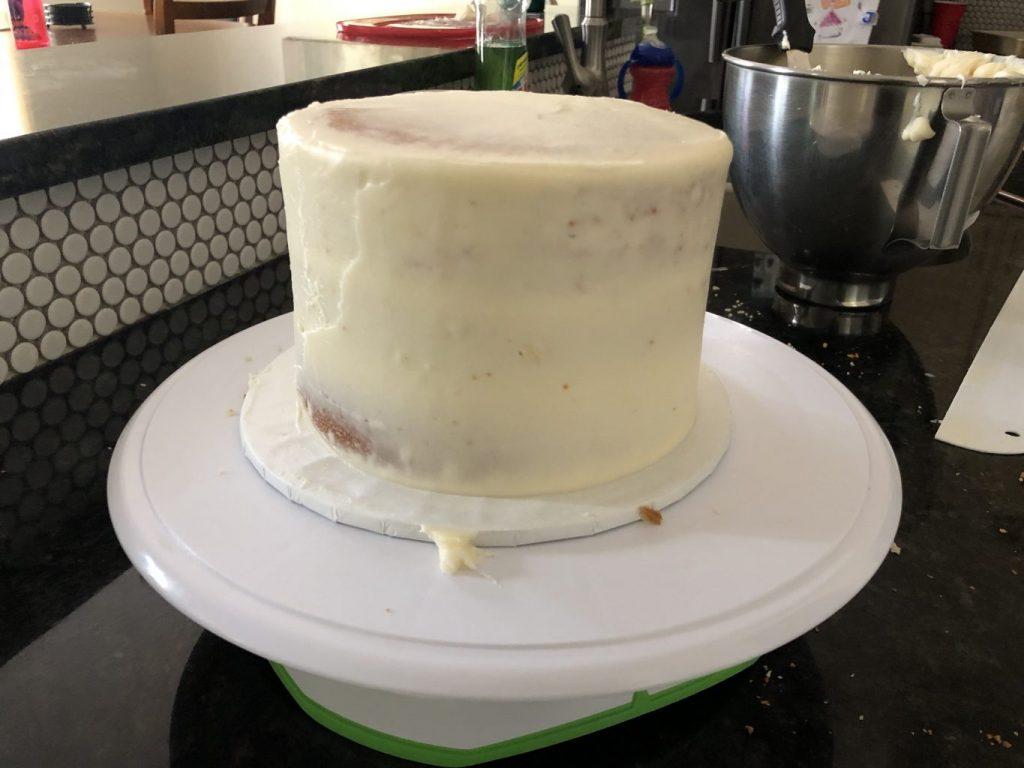 crumb coat cake