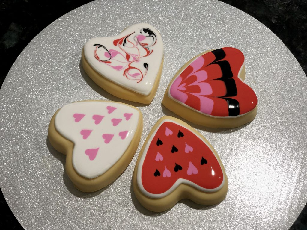 Valentines day sugar cookie cakes