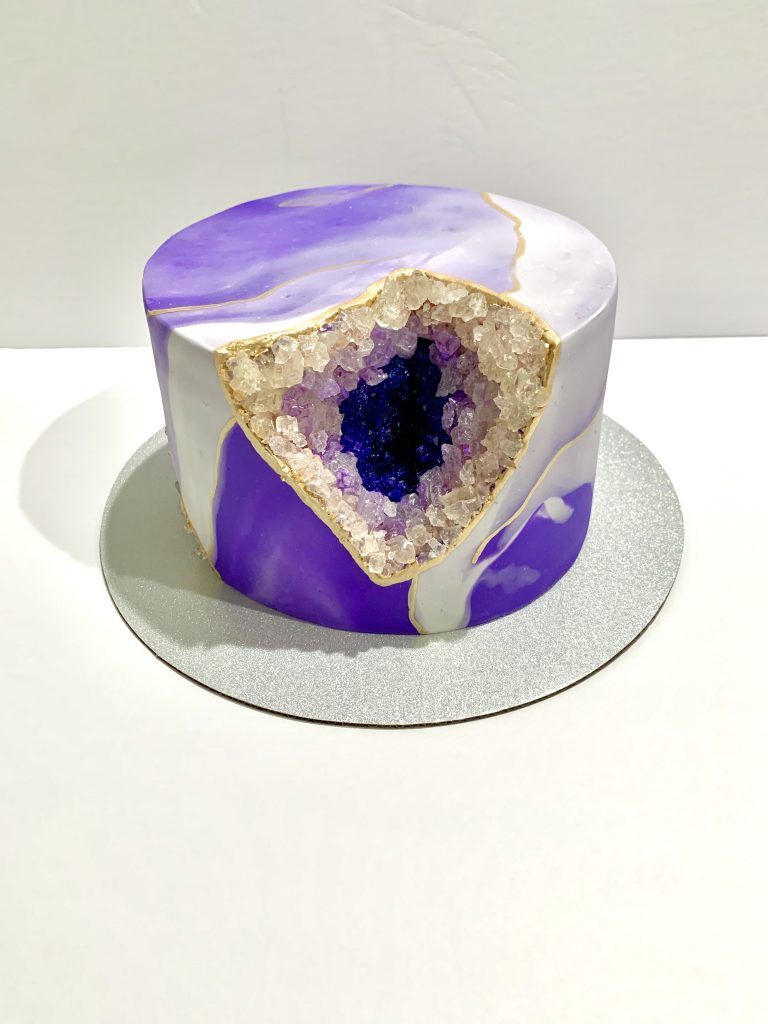 completed geode cake