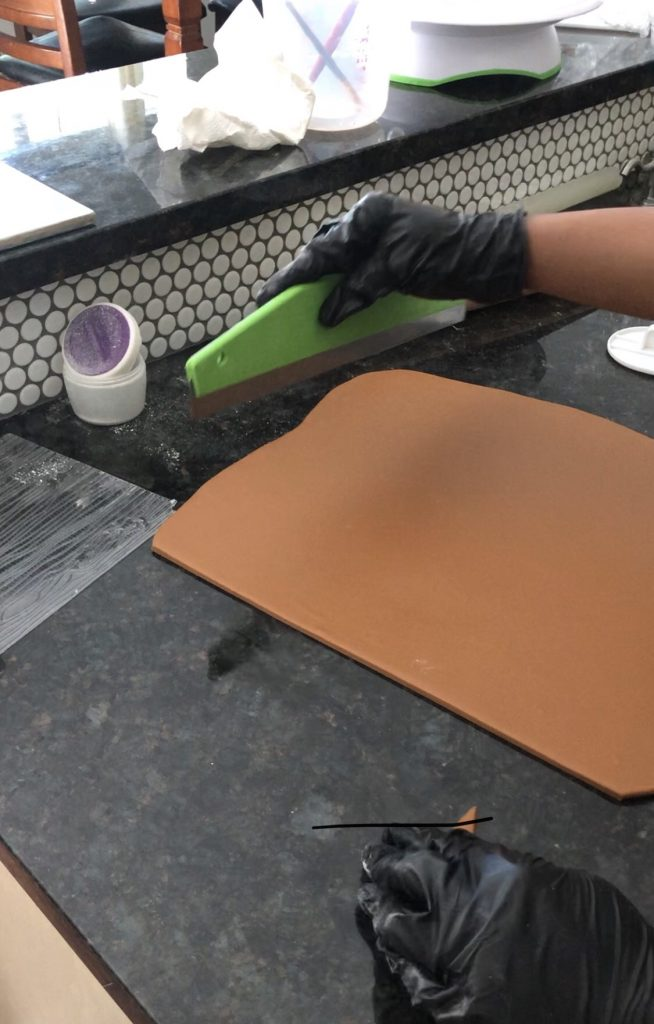 making wood grain fondant